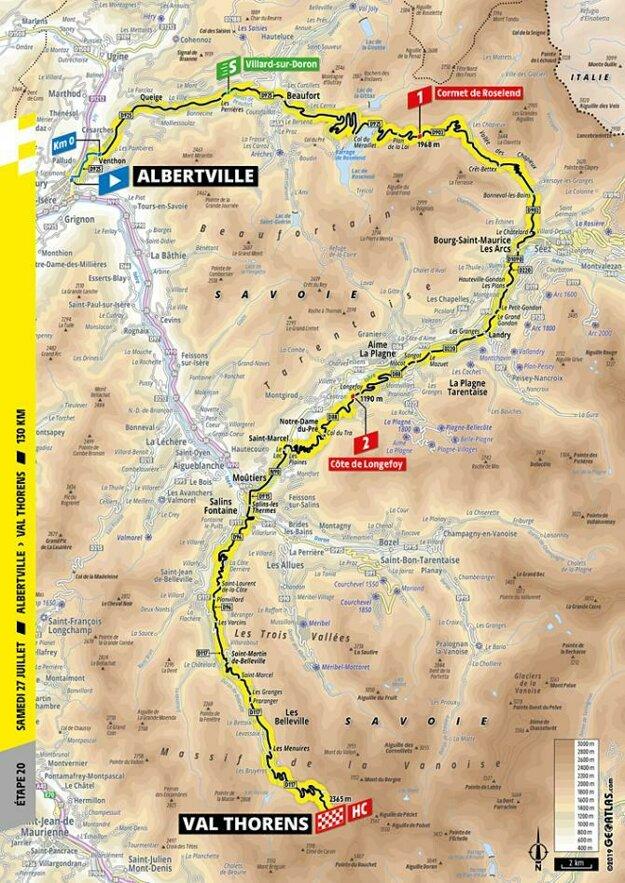 20. etapa Tour de France 2019.