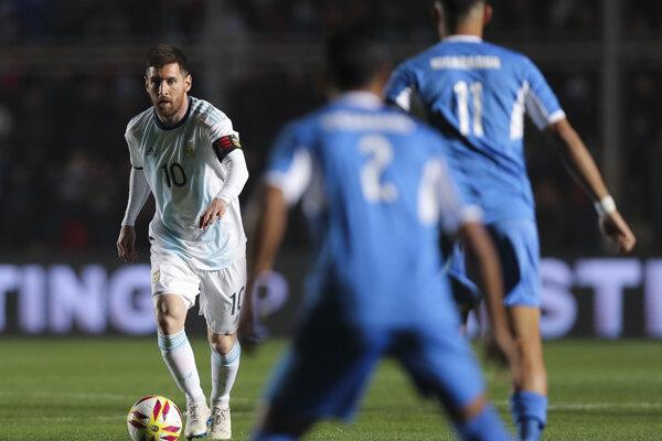 Lionel Messi v zápase proti Nikarague.