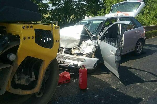 Foto z dopravnej nehody