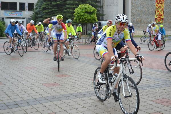 Humenné bolo tradičnou zastávkou cyklistov.