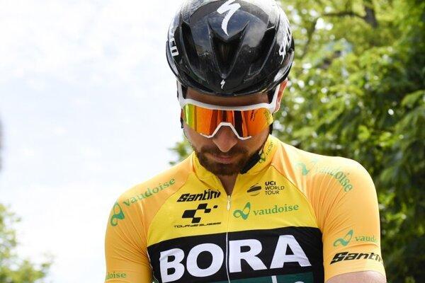 Peter Sagan sa pripravuje na štart 4. etapy Okolo Švajčiarska 2019.