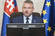 Na snímke predseda vlády SR Peter Pellegrini počas 161. schôdze vlády SR 19. júna 2019 v Bratislave.