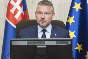 Na snímke predseda vlády SR Peter Pellegrini.