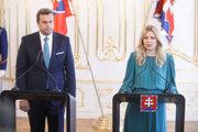 Šéf parlamentu Andrej Danko a prezidentka Zuzana Čaputová.
