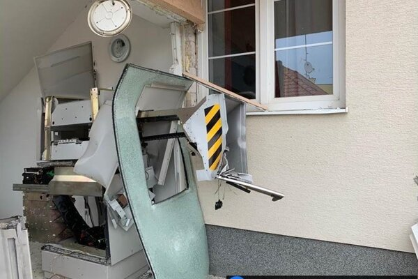 Výbuch bankomatu v Šenkviciach