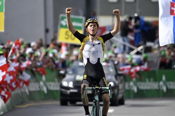 Víťaz 6. etapy na Okolo Švajčiarska Antwan Tolhoeck.