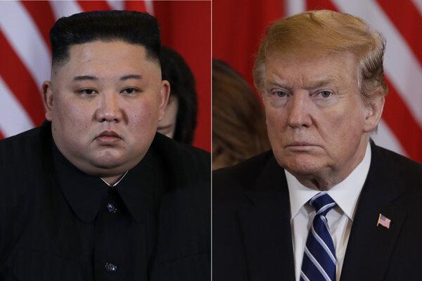 Kim Čong-un a Donald Trump.