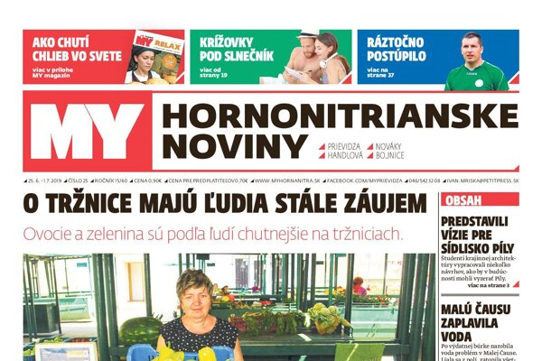 Nová číslo MY Hornonitrianskych novín.
