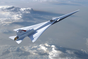 Vizualizácia lietadla X-59 QueSST.