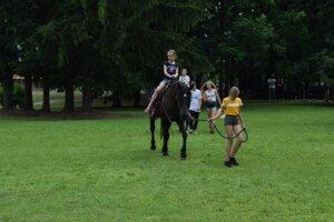 V parku sa mohli záujemcovia previesť na koni i koči.