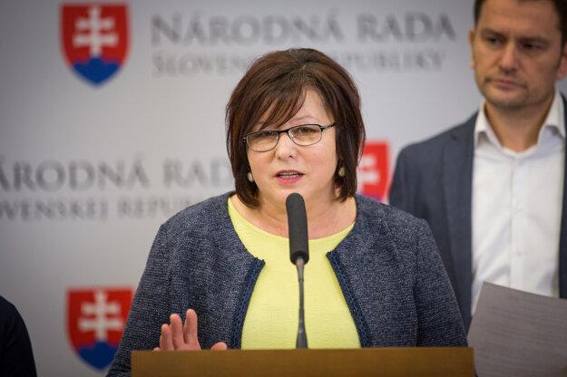 Poslankyňa Anna Verešová.