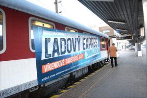 Ľadový expres v stanici Košice.