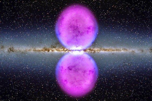 Fermiho bubliny prúdia zo stredu galaxie.