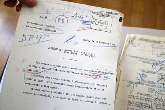 Podľa francúzskej rozviedky bola Chanelová nemeckou agentkou.