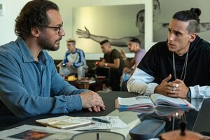Futbalista z AS Rím a jeho súkromný učiteľ vo filme Il Campione.