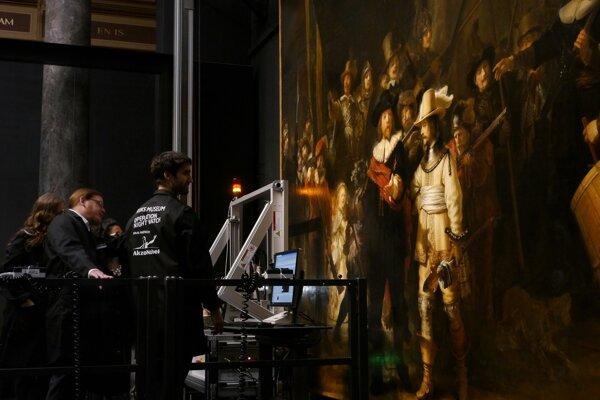 Rembrandtova Nočná hliadka v Amsterdame.