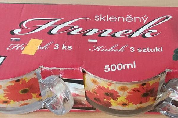 Sklenené hrnčeky s objemom 500 ml značky Smart Cook, ktoré sa predávajú v sade troch kusov.