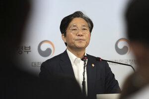 Juhokórejský minister obchodu, priemyslu a energetiky Sung Jun-mo.