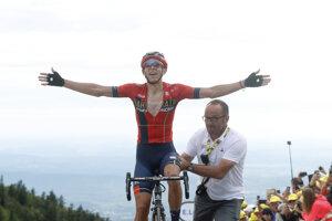 Dylan Teuns po výhre v 6. etape Tour de France 2019.