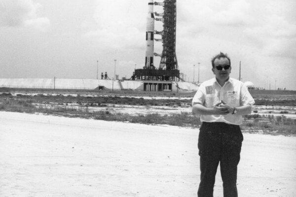 Karel Pacner na štarte rakety Saturn V a Apolla 11 na Floride.