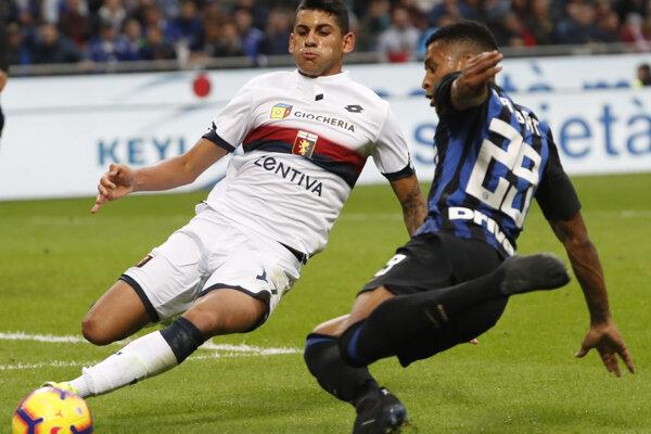 Cristian Romero v bielom drese FC Janov.