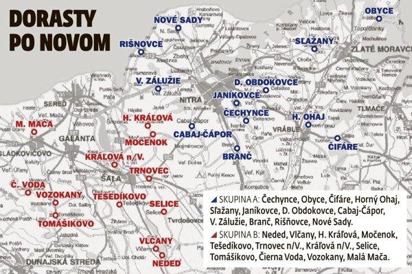Takto budú vyzerať dve dorastenecké súťaže pre tímy z okresov Nitra, Zlaté Moravce, Šaľa a Galanta.