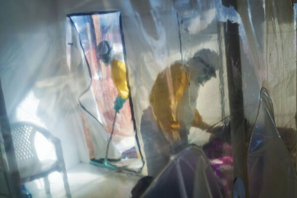 Zdravotné stredisko v meste Beni v Kongu, kde sa vyskytla ebola.