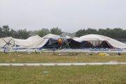 Spadnutý stan na Pohode 2009.