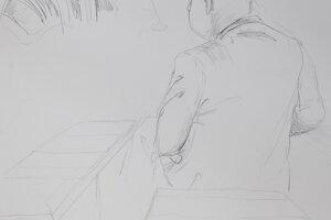 Ako vznikali kresby. Prokurátor Ján Šanta konfrontuje Pavla Ruska.