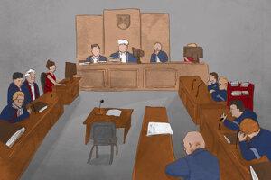 Súdny proces s Pavlom Ruskom.