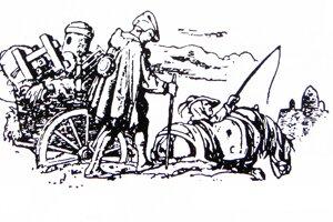 Putovný tlačiar zo 16. storočia.