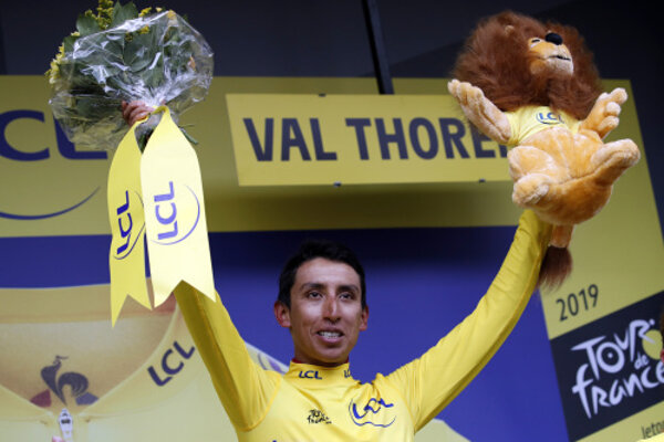 Egan Bernal vyhral Tour de France 2019.