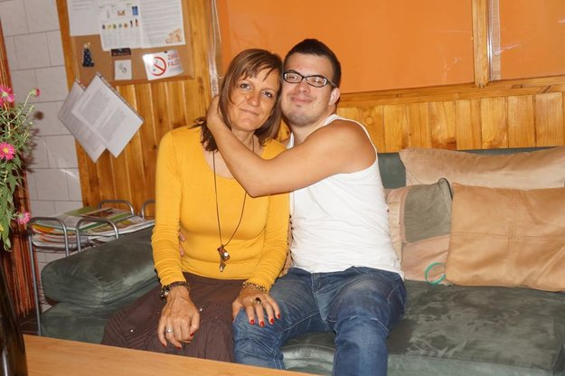 Ivi so svojou mamou Marcelou.