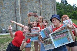 V žiadnom inom letnom detskom tábore si deti takéto vlastné noviny nevyrábajú, len v Korzárlande.