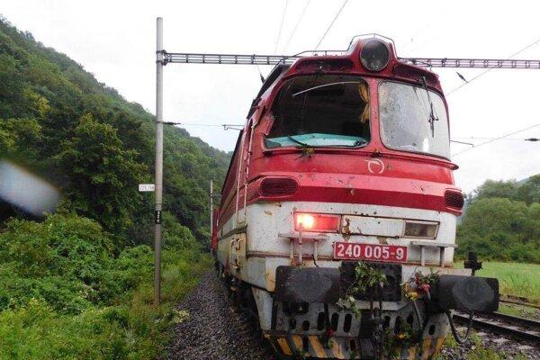 Poškodený vlak.