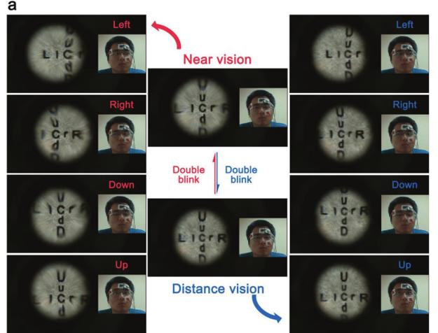 Šosovka sa dala prepínať medzi videním do blízka a do diaľky. Dvojitým žmurknutím sa totiž zmenila ohnisková vzdialenosť šošovky.