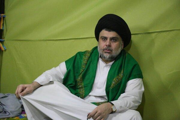 Vplyvný šiitský duchovný Muktadá as-Sadr.