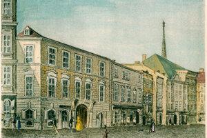 Mozartov dom na viedenskej Rauhensteingasse, kde zomrel.
