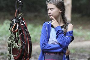 Greta Thunberg v Hambachskom pralese.