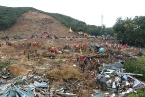 Zosuv pôdy na juhovýchode Mjanmarska.