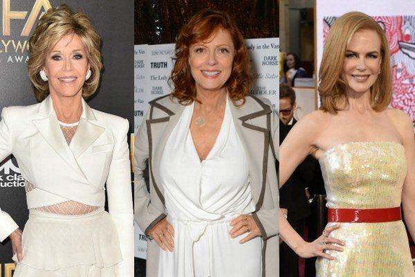 Zľava Jane Fondová, Susan Sarandonová a Nicole Kidmanová