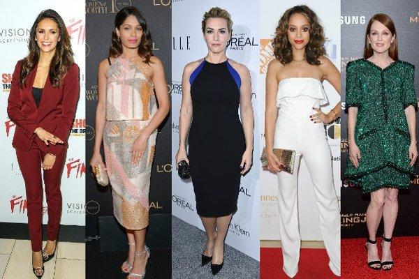 Zľava: Nina Dobrev, Freida Pinto, Kate Winslet, Amber Stevens, Julianne Moore