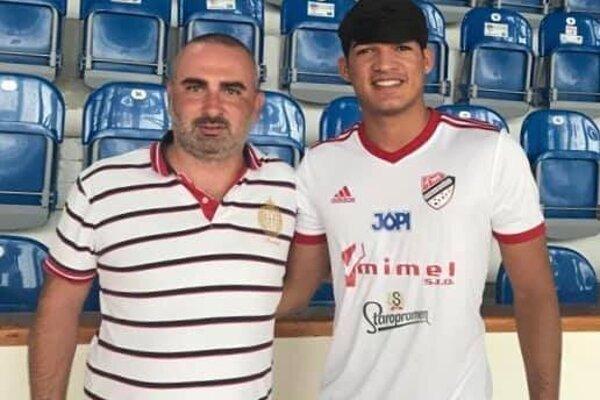 Anderson Patrocínio Alves (vpravo) s prezidentom klubu Milanom Kamenským.