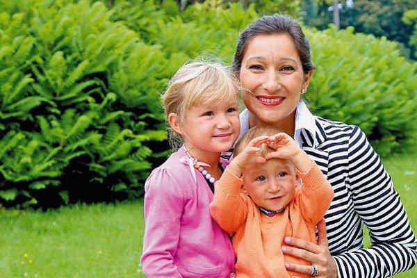 Martina Moravcová s deťmi