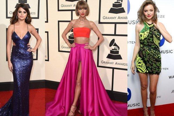 Zľava: Selena Gomezová, Taylor Swiftová, Miranda Kerrová