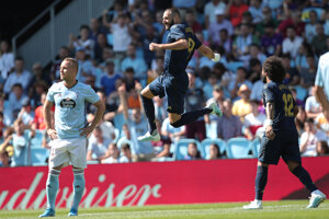 Karim Benzema sa raduje po úvodnom góle.