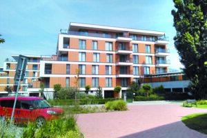 Bytovka s Hrehovými bytmi v komplexe Park Anička.