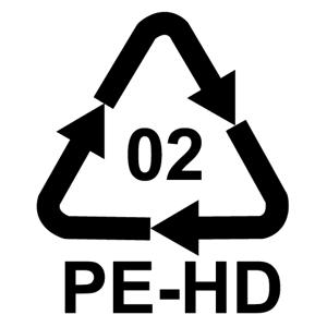 Recyklačný symbol pre polyetylén vysokej hustoty