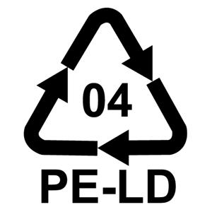 Recyklačná značka pre polyetylén nízkej hustoty