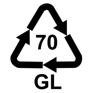 Recyklačná značka pre číre sklo